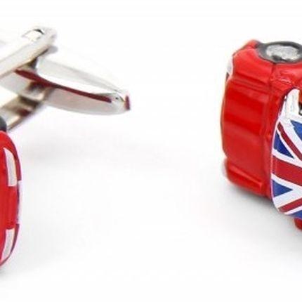 Запонки мини куперы с английским флагом