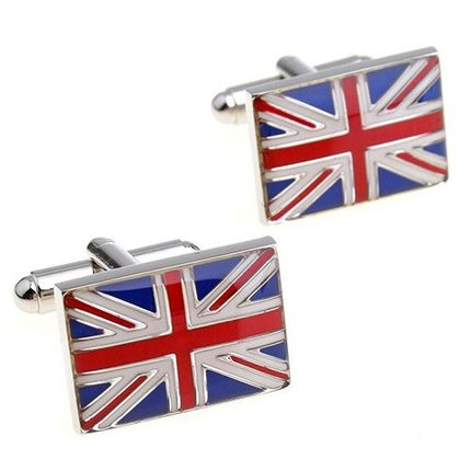 Запонки британский флаг