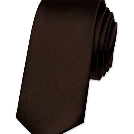 Галстук атласный черный шоколад