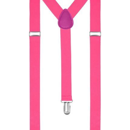 Подтяжки классические ярко-розовые