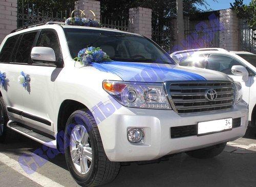 """Toyota Land Cruiser 200. прокат свадебных кортежей. Внедорожник Toyota. стильные авто для свадебного кортежа. яркие оригинальные наряды на машины. весь волгоград. самые низкие цены. - фото 11855830 Компания проката авто """"Кортеж 34"""""""