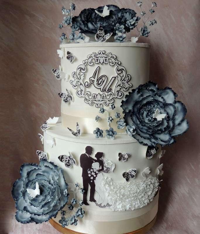 торт свадебный два яруса - фото 15907004 Кондитер Ирина К.
