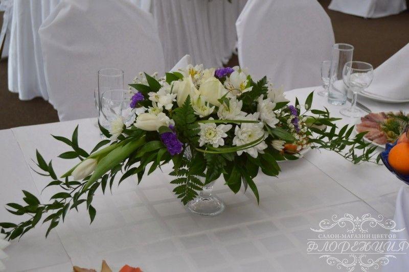 Фото 6465454 в коллекции Оформление залов и выездных регистраций живыми цветами - Флорист Снежана Арт