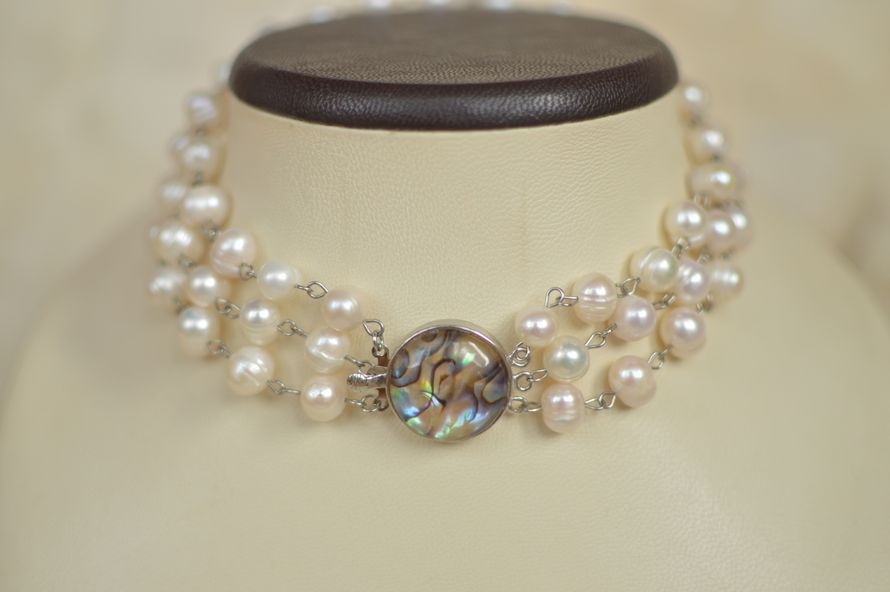 "Ожерелье с жемчугом и халиотисом ""Тиффани"""