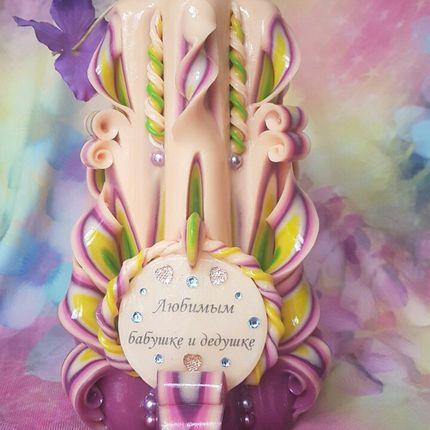 Свечи с подарочной надписью