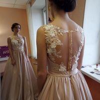 Свадебное платье: Ангелина Ткань:  атлас, кружево Цвет: пудра/молоко Цена: 21000 Это платье на сайте: