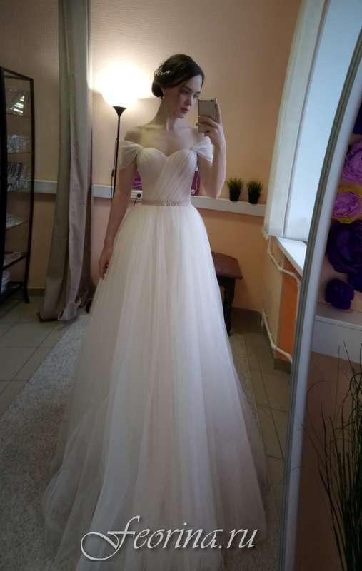 Свадебное платье: Каролина Ткань:  фатин Цвет: пудра/молоко Цена: 17500 Это платье на сайте: - фото 17034822 Свадебный салон Feorina