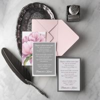 свадебные приглашения в  конверте,   дизайнерская бумага, размер  приглашения в конверте 15,5см/21,5см