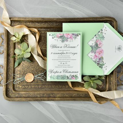 Свадебные приглашения по индивидуальному макету