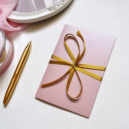 Пудрово-розовые пригласительные, цена за 1 шт