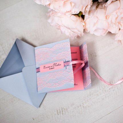 """Приглашение на свадьбу """"Розовый кварц"""", цена за 1 шт"""