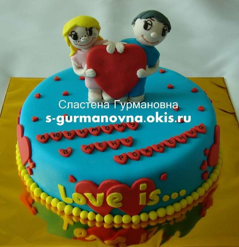 """Love is..., 1,4кг, внутри чизкейк рафаэлло - фото 14552362 Кондитерская """"Торты от Сластёны Гурмановны"""""""