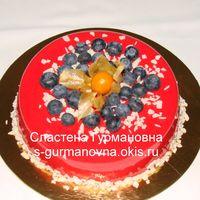 """Муссовый торт """"Хлоя"""" с клубничным конфи"""