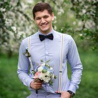 Стилизованная свадебная фотосессия в цветущем саду