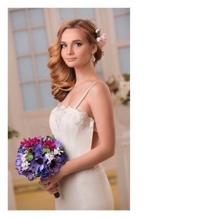 """Букет невесты из полимерной глины """"Лиловые нотки"""""""
