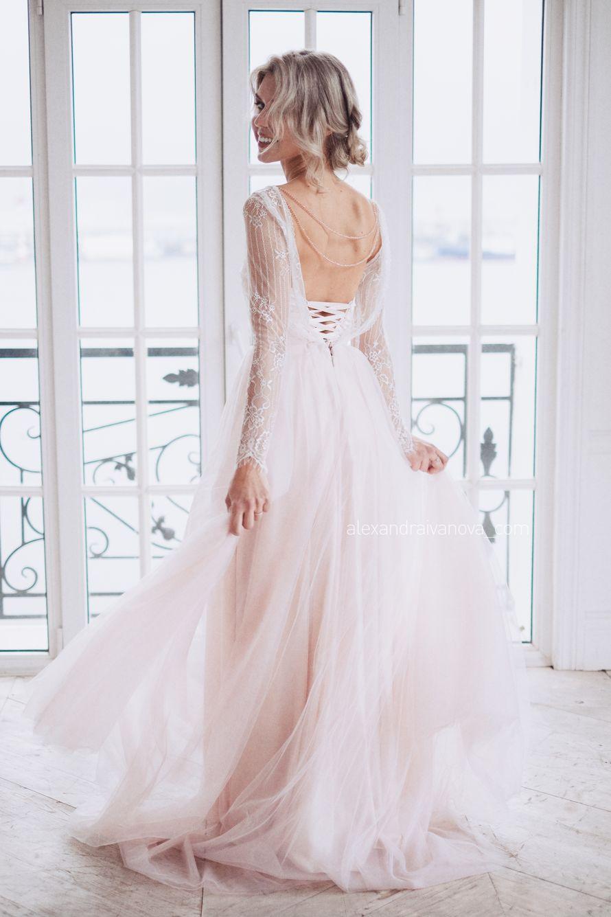 Платье Пудра цвет - молоко р-р 38-54 стоимость 40500 руб - фото 17642404 Свадебный салон Tavifa