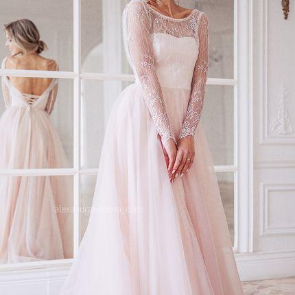 """Свадебное платье """"Розовый закат"""""""