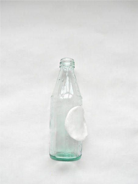 Бутылки-вазы из матового стекла2: МК