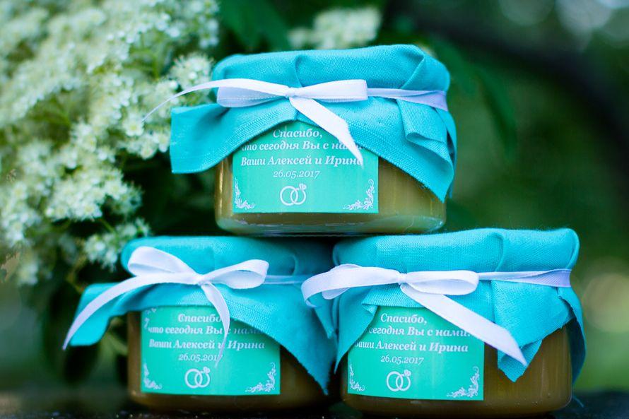 Медовые бонбоньерки для гостей на свадьбу. Делаем индивидуальное оформление баночки согласно вашим пожеланиям и стилистике мероприятия. - фото 14790608 Мёд и пряники - мастерская сладких подарков