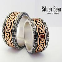 """Обручальные кольца """"Ancient stone"""""""
