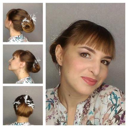 Причёска для невесты для коротких волос
