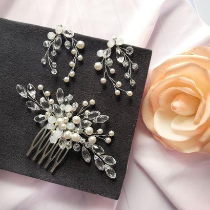 Комплект для невесты с жемчугом Swarovski