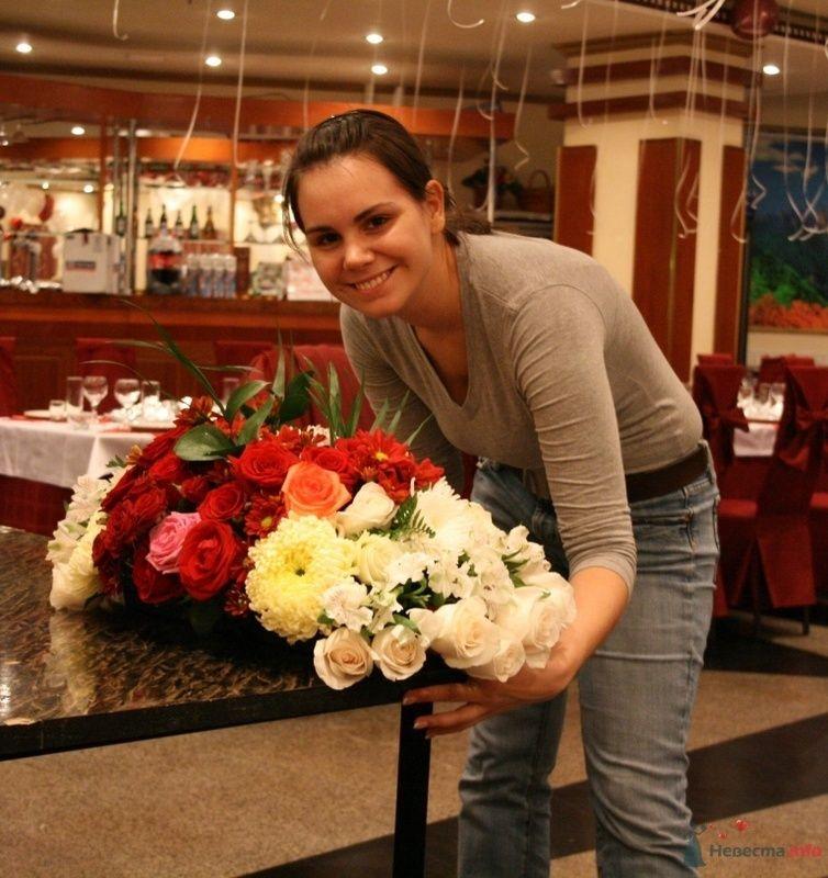 Композиция на стол молодоженов - фото 70965 Вашкетова Юлия - организатор свадеб, флорист.