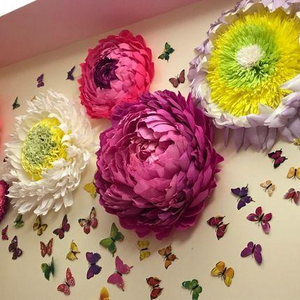 Ростовые цветы на стену