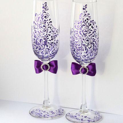 Свадебные бокалы для молодожёнов