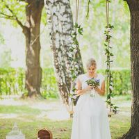 Качели с розами на свадьбу