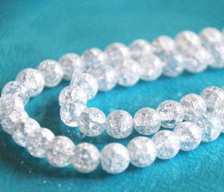 Натуральный снежный кварц. 12 мм, 10 мм - фото 15295556 Magic crystal - ювелирный салон