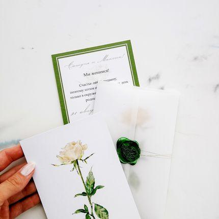 Комплект Белая роза, 20-30 шт.