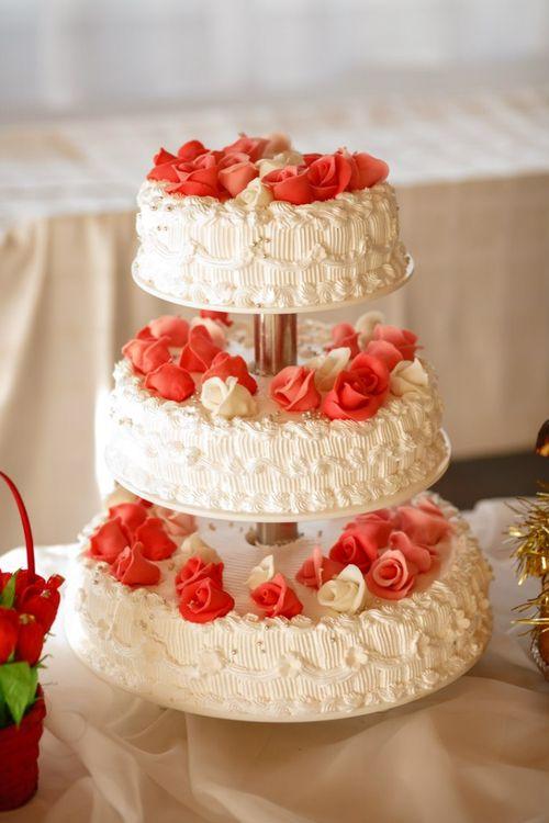 Торт кремовый свадьба фото