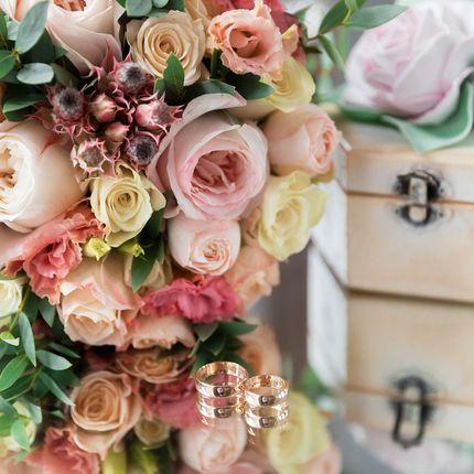 Букет невесты с розами