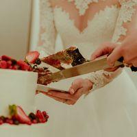 Свадебный двухъярусный торт, цена за изделие