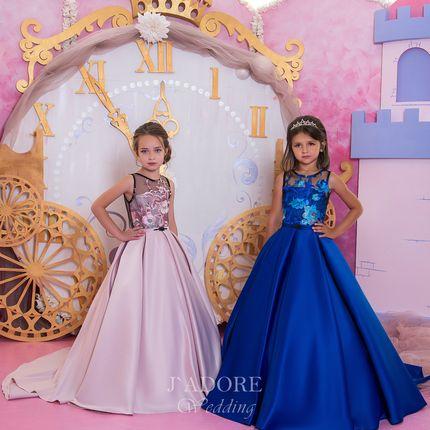 Атласное платье для детей
