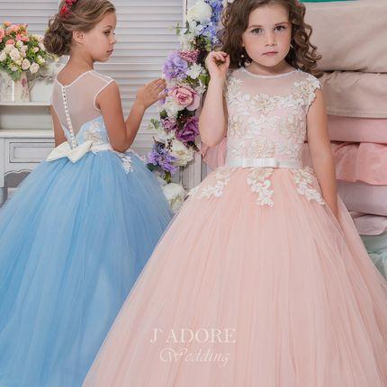 Пышное фатиновое детское платье