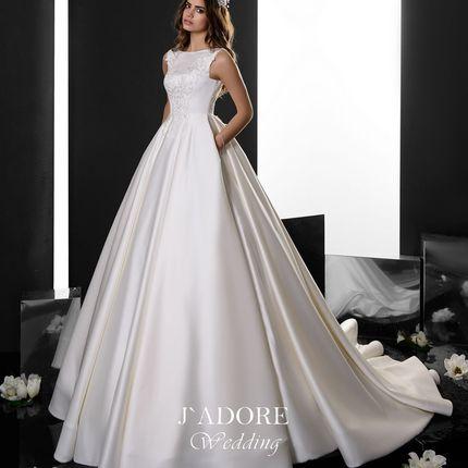 Атласное платье 1419