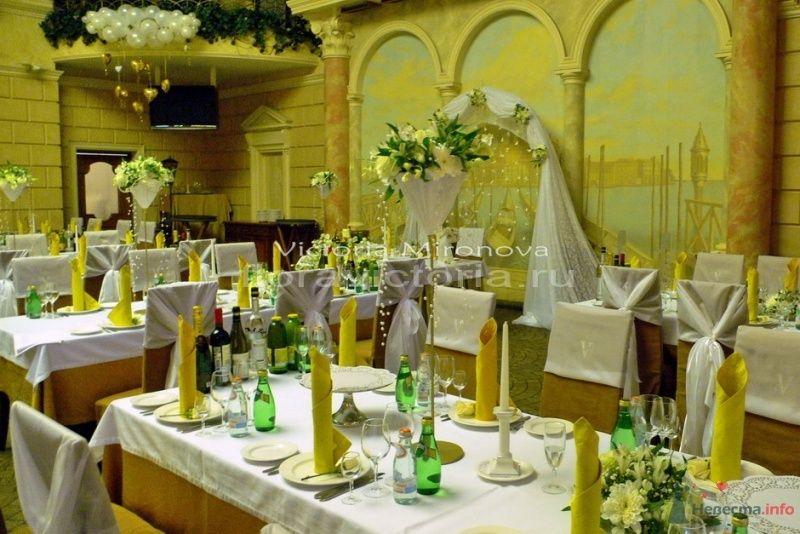 Свадьба, оформление зала - фото 29408 Cвадебная флористика и декор событий FloraVictoria
