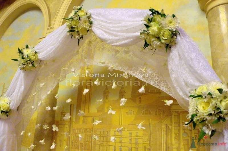 Свадебная арка - фото 29409 Cвадебная флористика и декор событий FloraVictoria