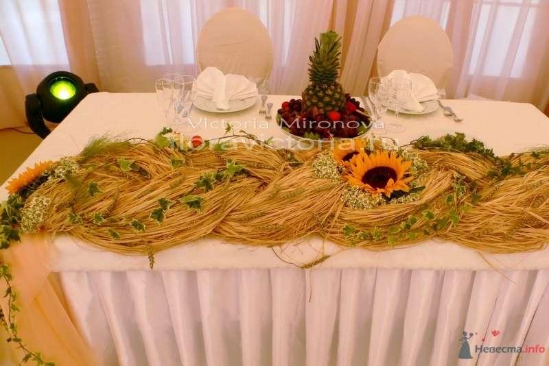 Украшение свадебного стола - фото 29413 Cвадебная флористика и декор событий FloraVictoria