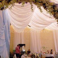 Свадебное оформление зала тканью, светом и цветами