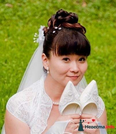 Свадебная прическа с фатой фото - фото 119405 Парикмахер и стилист-визажист - Елена Иванова