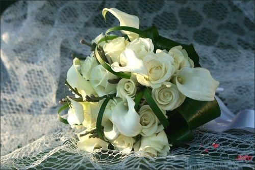 """букет невесты с каллами и розой - фото 1441 Мастерская флористики """"Bouton"""""""