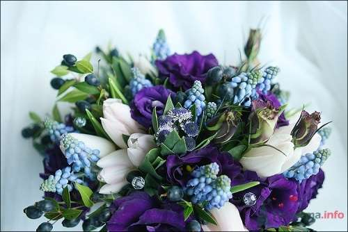 "фиолетово-синий - фото 6476 Мастерская флористики ""Bouton"""
