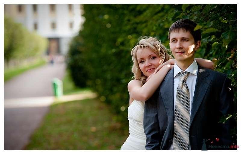 """Классический серый костюм жениха """"двойка"""" с полосатым серым галстуком и сиреневой бутоньеркой в петлице пиджака - фото 39876 Gennadiy"""