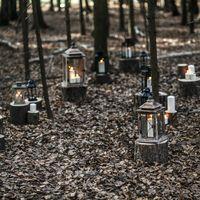 Деревянные и металлические фонари в аренду