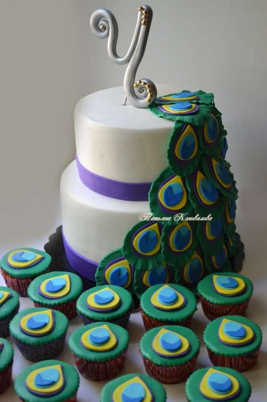 """Фото 2614843 в коллекции Мои свадебные торты - Студия торта """"Сахарная пудра"""""""