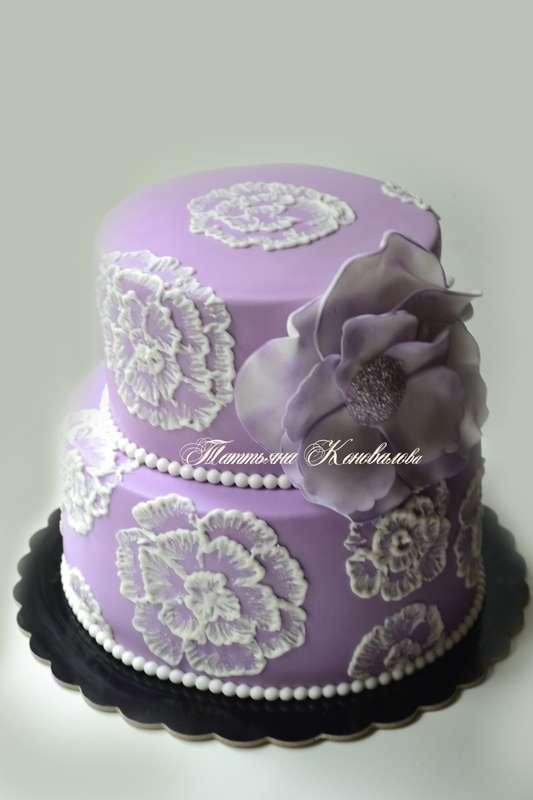 """Фото 2675181 в коллекции Мои свадебные торты - Студия торта """"Сахарная пудра"""""""