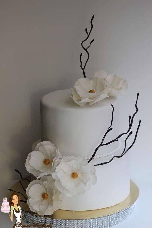 """Фото 4455753 в коллекции Мои свадебные торты - Студия торта """"Сахарная пудра"""""""